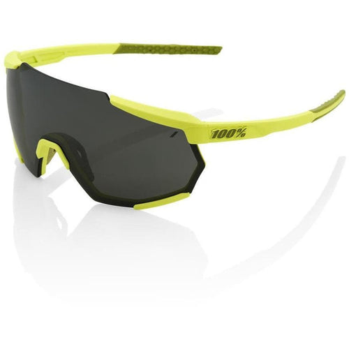 RIDE 100% Eyewear Racetrap Soft Tact Banana Black Mirror Lens Default 100%