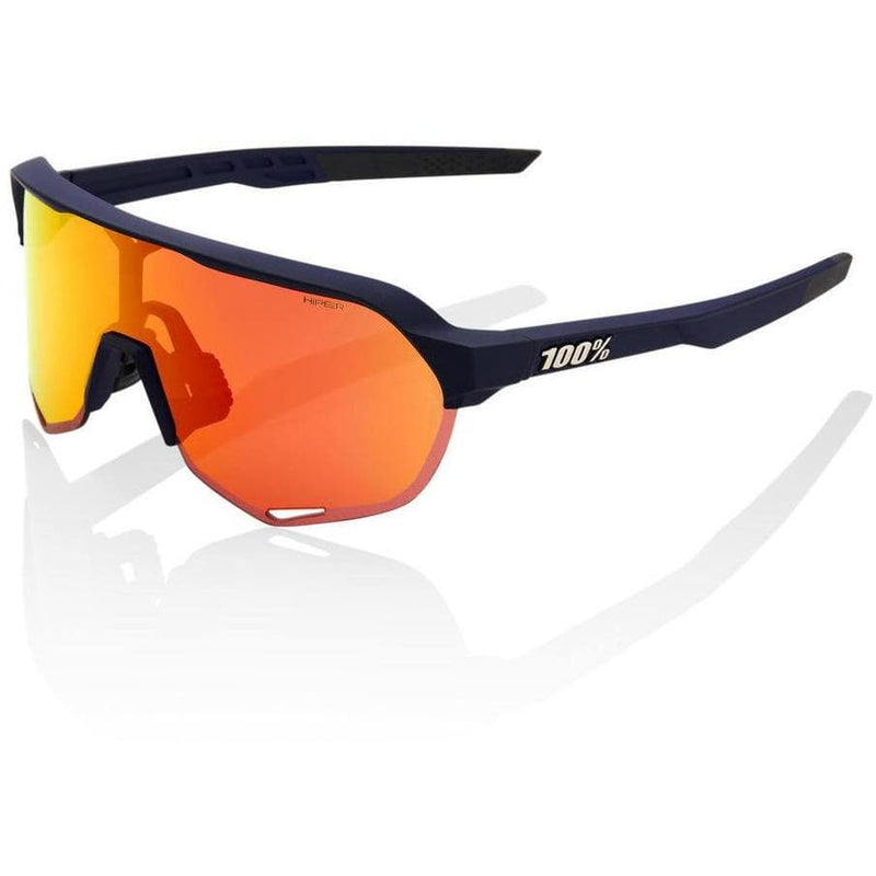 RIDE 100% Eyewear S2 - Soft Tact Flume - Hiper Red Multilayer Mirror Lens Default 100%