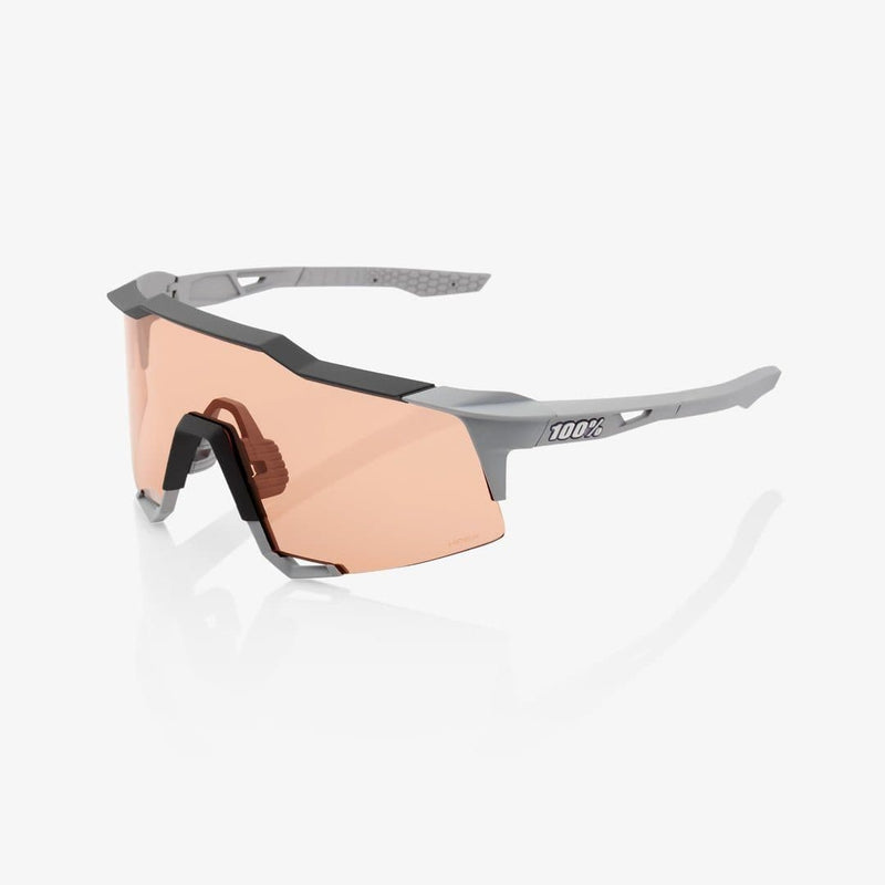RIDE 100% Eyewear S3 Soft Tact Stone Grey Hiper Coral Lens Default 100%