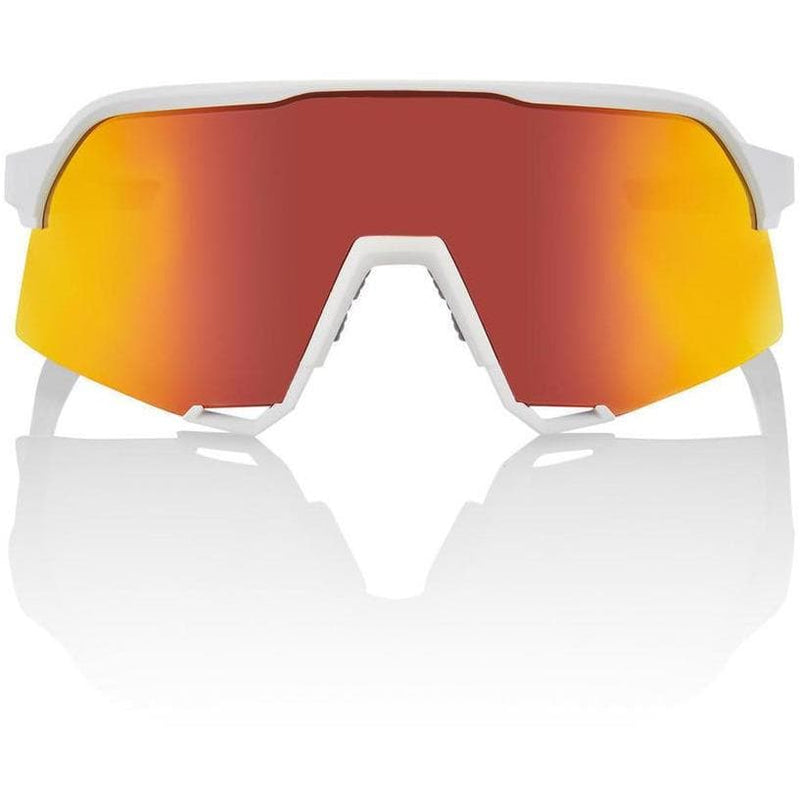 RIDE 100% Eyewear S3 Soft Tact White HiPER® Red Multilayer Mirror Lens Default 100%