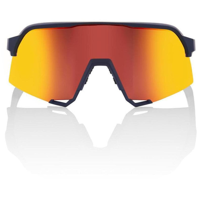 RIDE 100% Eyewear Soft Tact Flume HiPER Red Multilayer Mirror Lens Default 100%