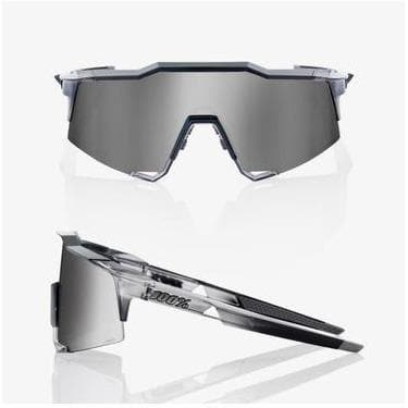 RIDE 100% Eyewear Speedcraft Polished Translucent Crystal Grey HiPER Silver Mirror Lens Default 100%