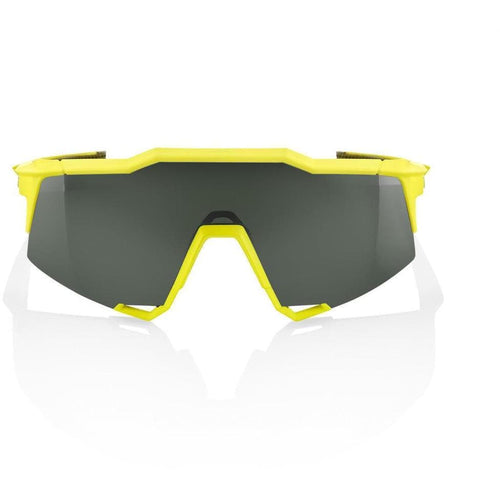 RIDE 100% Eyewear Speedcraft Soft Tact Banana Grey Green Lens Default 100%