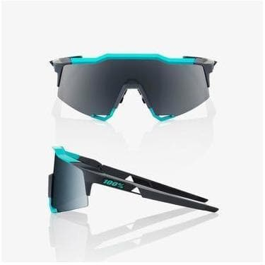 RIDE 100% Eyewear Speedcraft - Soft Tact Celeste Green/Cement Grey - Black Mirror Len Default 100%