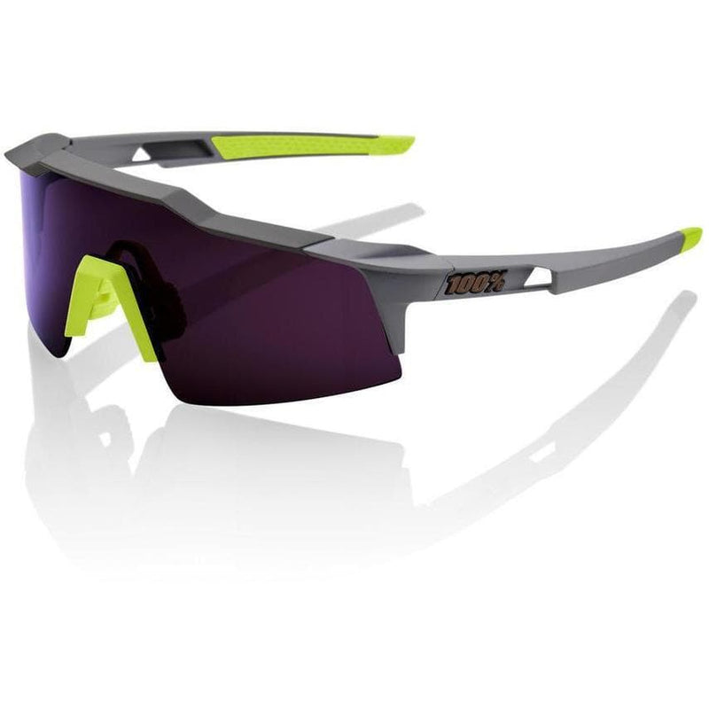 RIDE 100% Eyewear Speedcraft Soft Tact Midnight Mauve Purple Lens Default 100%