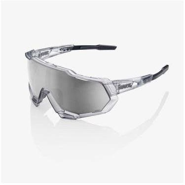 RIDE 100% Eyewear Speedtrap Matte Translucent Crystal Grey-HiPER Silver Mirror Lens Default 100%