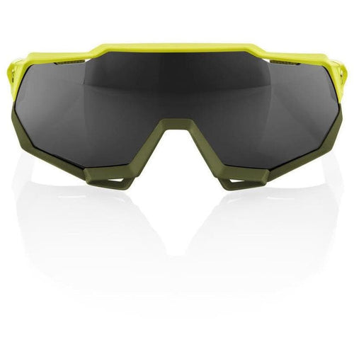 RIDE 100% Eyewear Speedtrap Soft Tact Banana Black Mirror Lens Default 100%