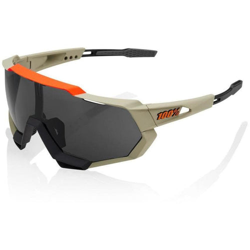 RIDE 100% Eyewear Speedtrap Soft Tact Quicksand Smoke Lens Default 100%