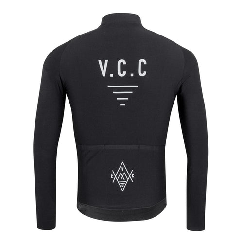 VELODROM Cycling Coterie Long Sleeve Thermal Jersey - Black Default Velodrom Barcelona