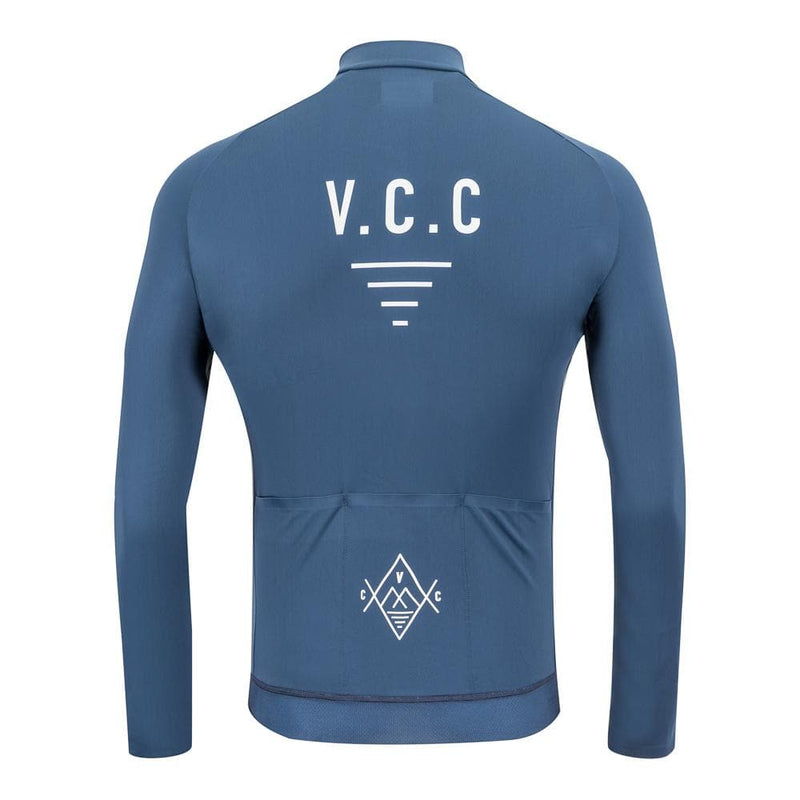 VELODROM Cycling Coterie Long Sleeve Thermal Jersey - Deep Blue Default Velodrom Barcelona
