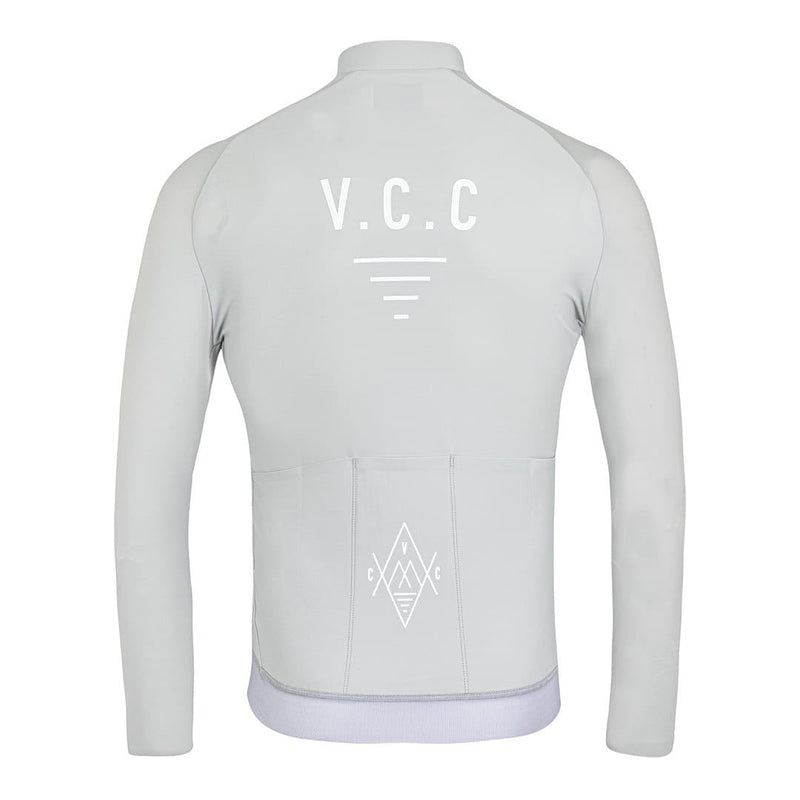 VELODROM Cycling Coterie Outmost Long Sleeve Jersey - Light Grey Default Velodrom Barcelona