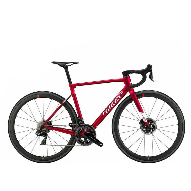Wilier 0 SLR Ultegra Disc + NDR38KC Carbon wheels - Velvet Red Matt Default Velodrom Barcelona