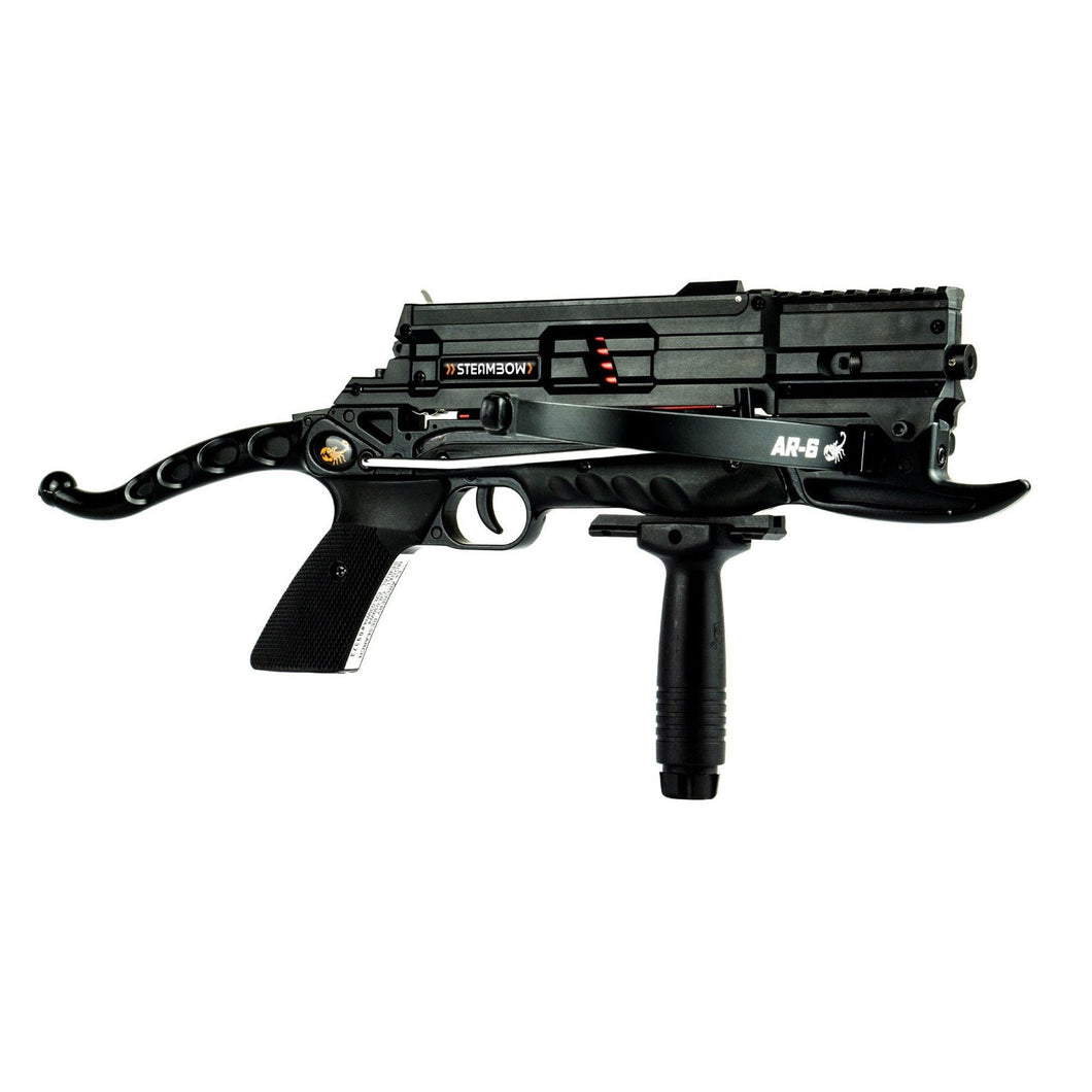 Steambow AR-6P Stinger 6 Shot Tactical Pistol Crossbow (Polymer Magazine)