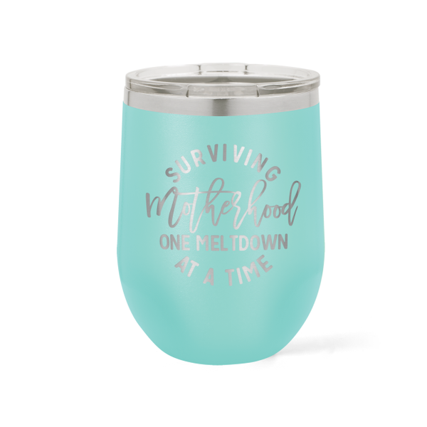 LIMITED EDITION - 12 oz. Mother's Day Wine Tumbler - Black Diamond Laser Design, LLC