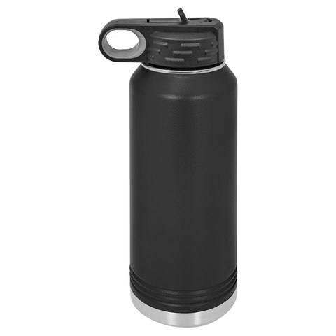 32 oz. Vacuum Insulated Water Bottle - Black Diamond Laser Design