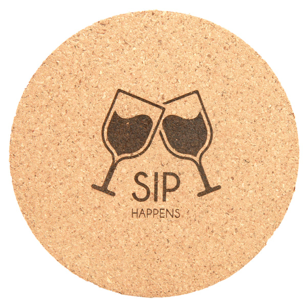 Cork Coaster Set - Black Diamond Laser Design, LLC