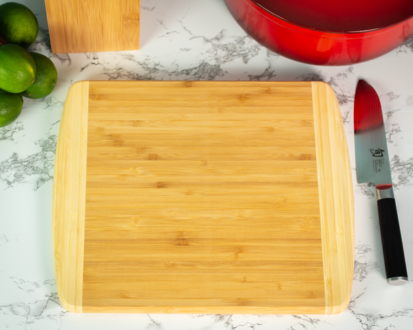 Bamboo Utensil Set & Cutting Board Bundle - Black Diamond Laser Design, LLC