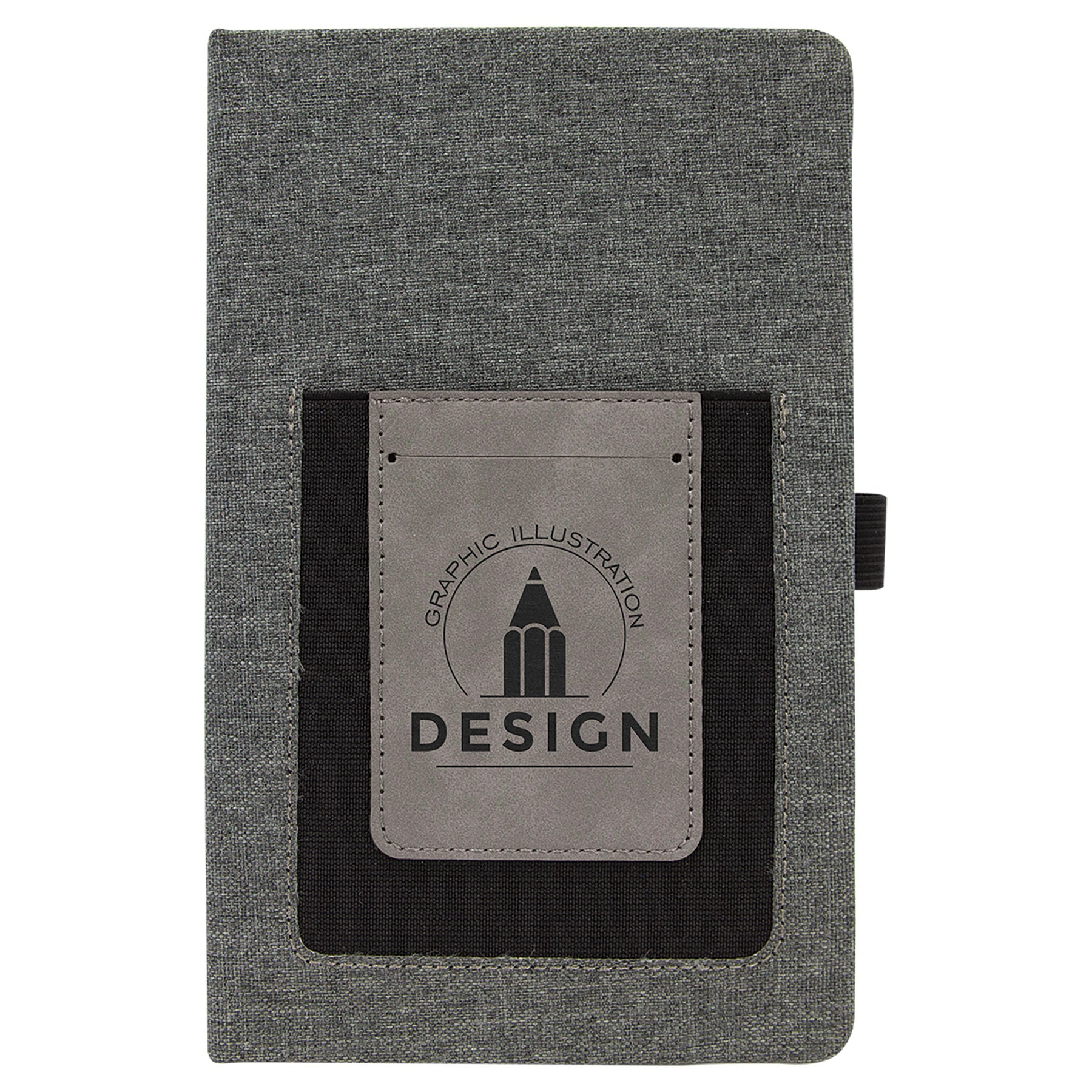 Canvas Journal with Phone Holder - Black Diamond Laser Design