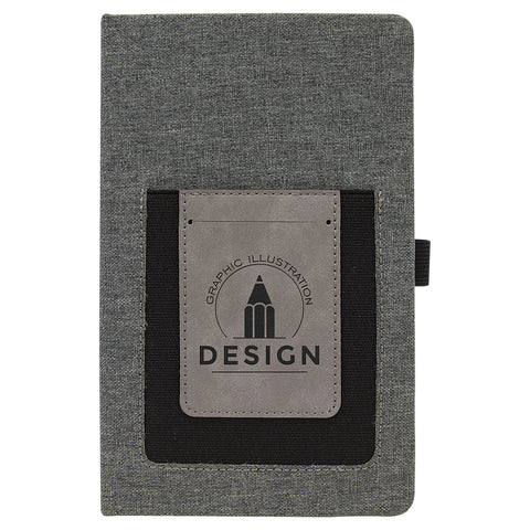 Canvas Journal with Phone Holder - Black Diamond Laser Design, LLC