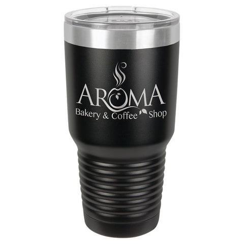 30 oz. Vacuum Insulated Tumbler - Black Diamond Laser Design