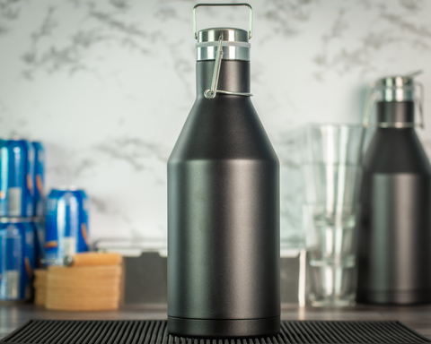 64 oz. Vacuum Insulated Growler - Black Diamond Laser Design