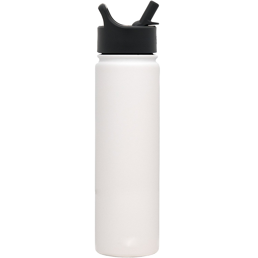 Simple Modern Summit Water Bottle with Straw Lid - Black Diamond Laser Design