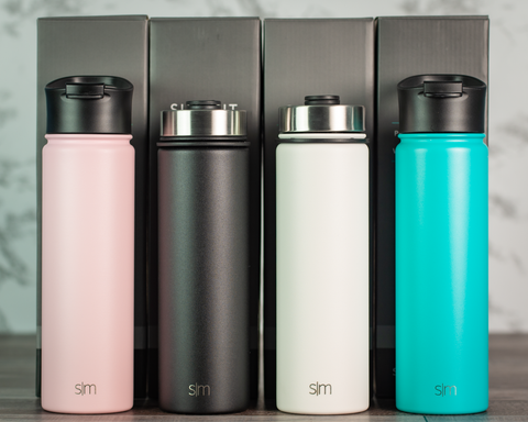 Simple Modern Summit Water Bottle with Flip Lid (22oz) - Black Diamond Laser Design