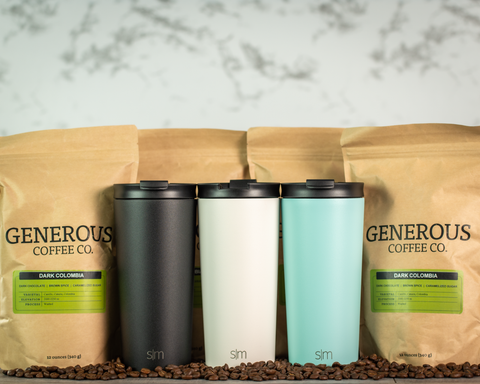 Simple Modern Classic Tumbler & Generous Coffee Co. Bundle - Black Diamond Laser Design, LLC