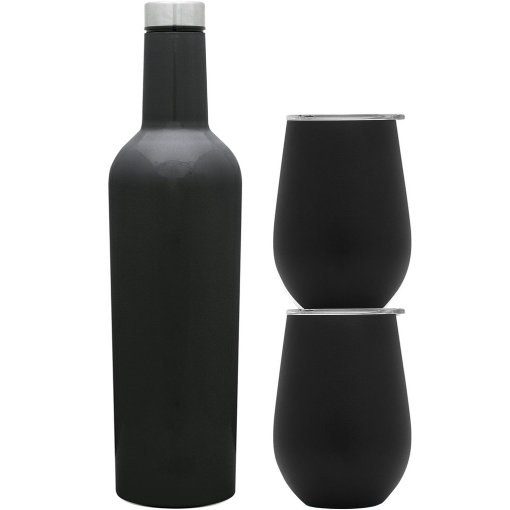 Simple Modern Spirit Wine Bundle - Black Diamond Laser Design