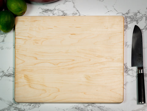 Maple Cutting Board - Black Diamond Laser Design