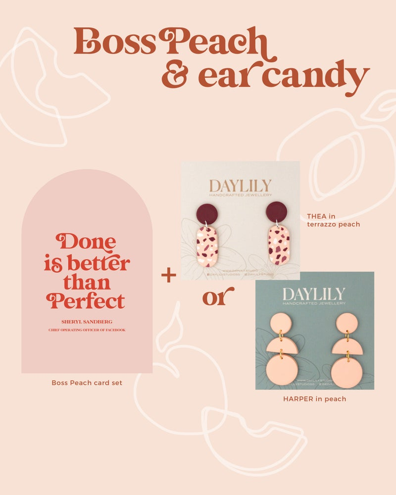 Boss Peach - Reminder cards + Ear candies from Daylily