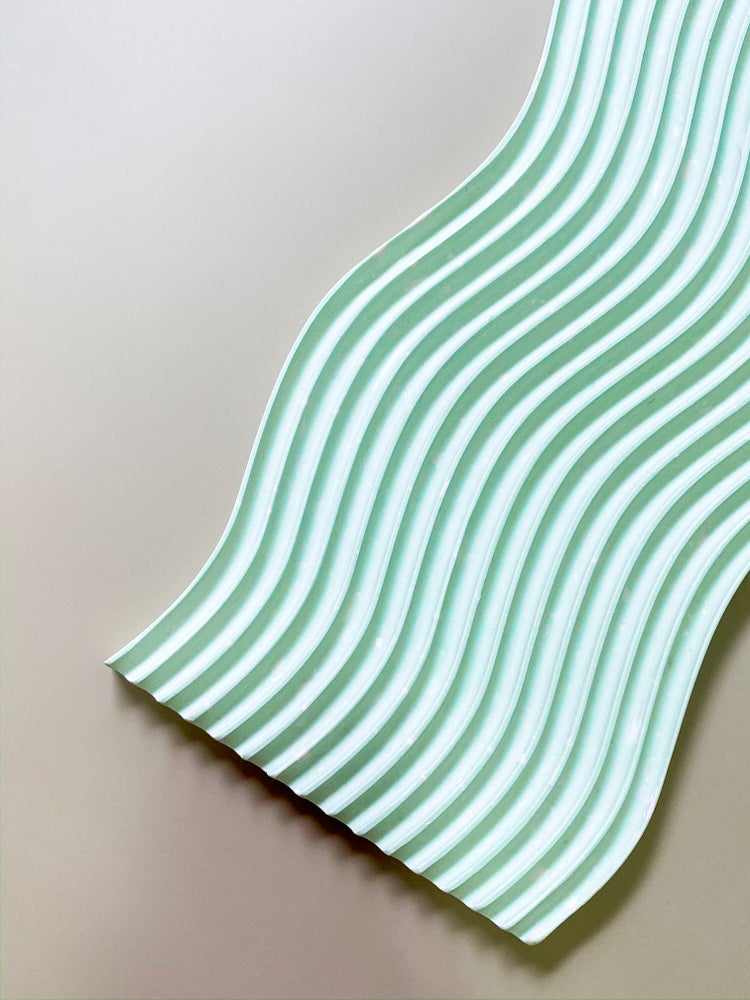 Wave tray - Mint green