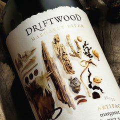 Label of Driftwood Estate wine bottle