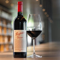 Penfolds Grange bottle and wineglass