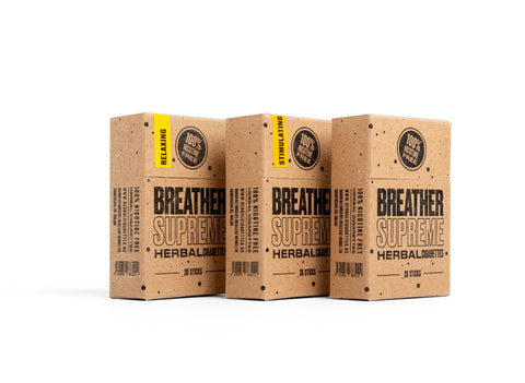 Herbal cigarettes by breather