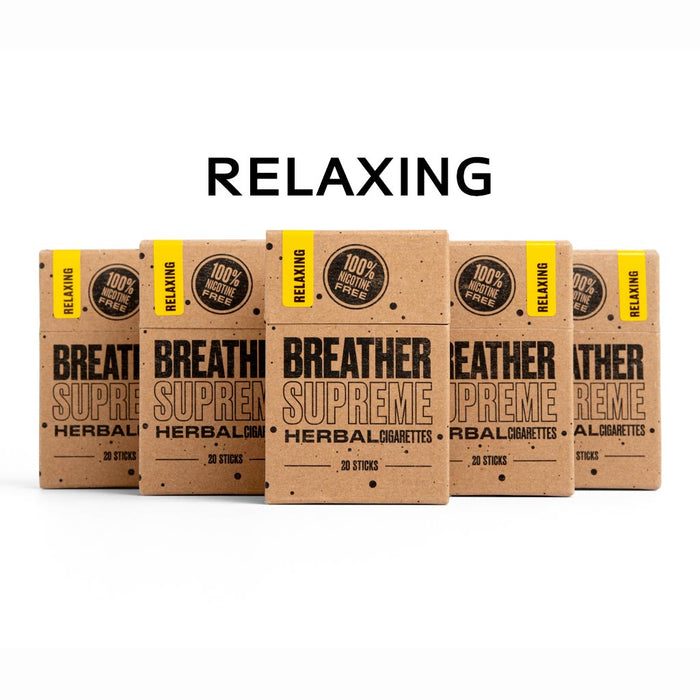 RELAXING  HERBAL  CIGARETTES   - 5 PACKS * 20 SMOKES