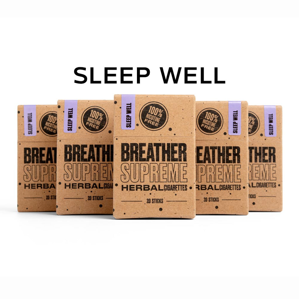 SLEEP WELL HERBAL CIGARETTES - 5 PACKS * 20 SMOKES