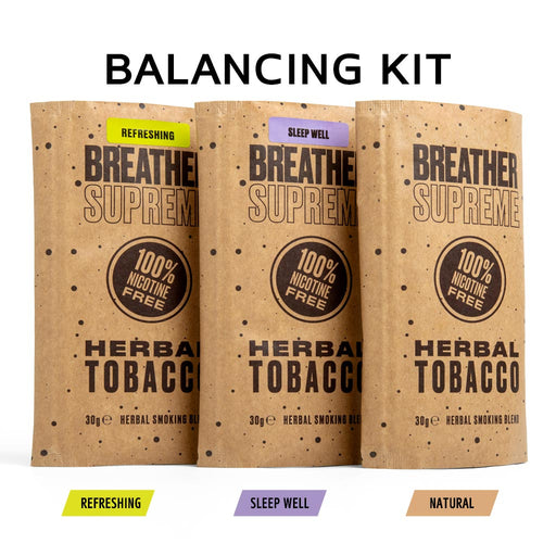 BALANCING HERBAL TOBACCO KIT - 3 PACKS * 30g