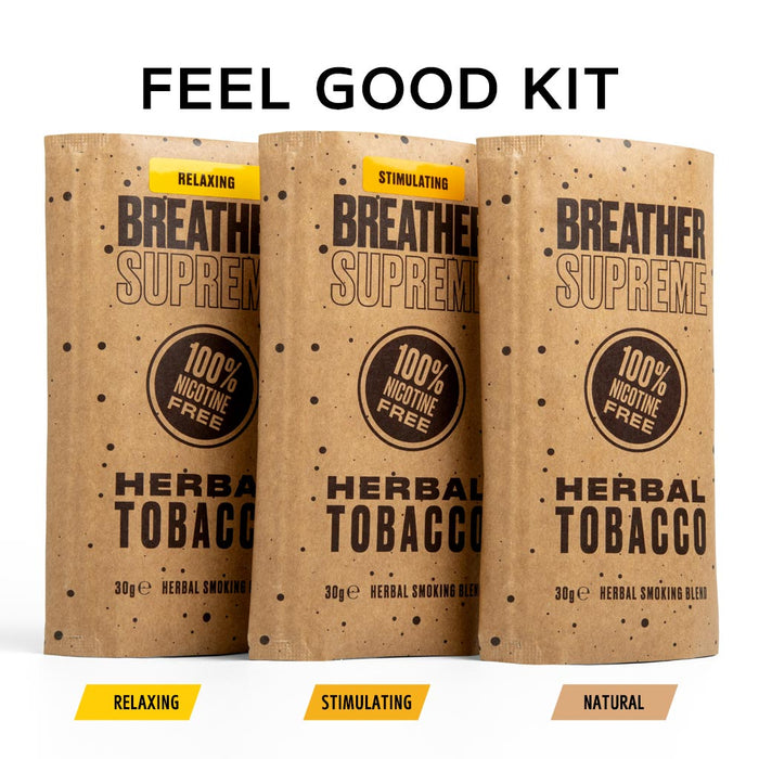 FEEL GOOD HERBAL TOBACCO  KIT - 3 PACKS * 30g