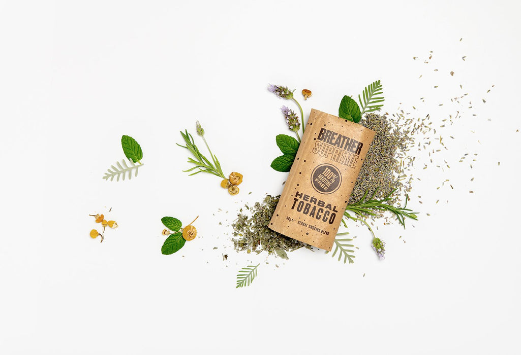 medicinal smokable herbs in herbal cigarettes and herbal tobacco