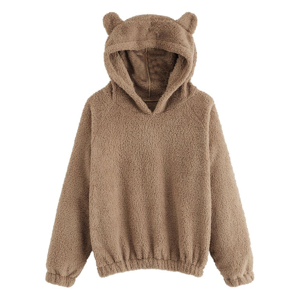 Cozy Bear Ears Fleece Hoodie
