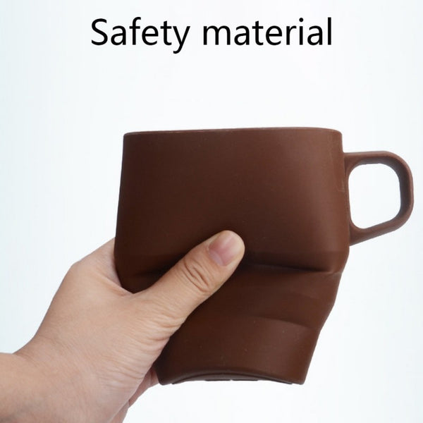 High-quality, Non-toxic, Folding Coffee Cup With Portable Straw
