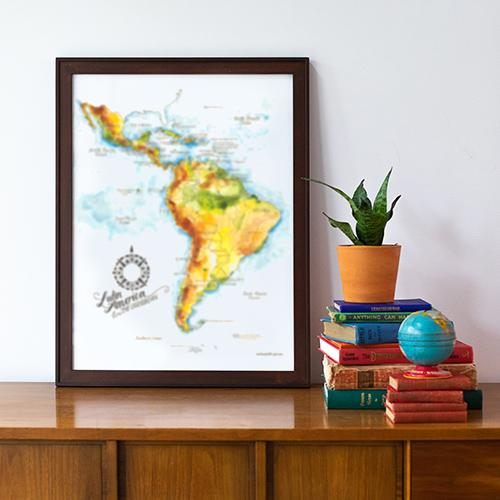 Country Map Art Prints
