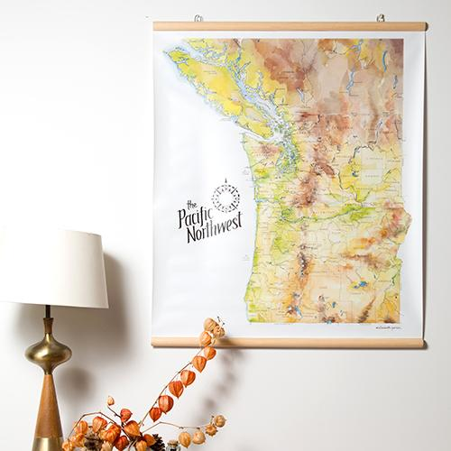 Jumbo Vinyl Map Art Prints