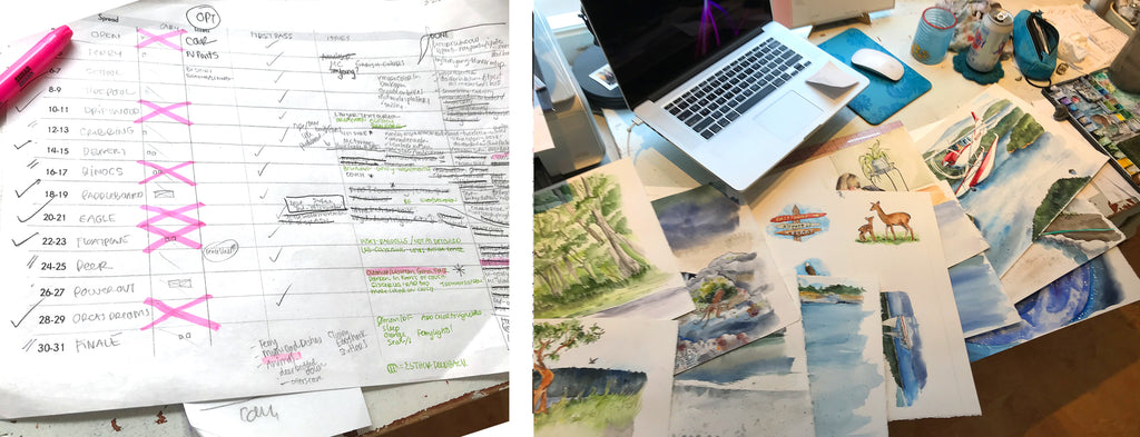 Organizing a Children's Book Layout and Illustrations