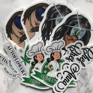 Chef Anna White Label stickers