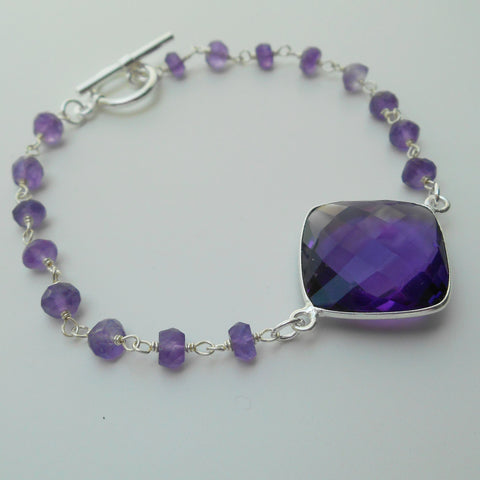 Spiritual Wisdom Amethyst bracelet Sealed with Love