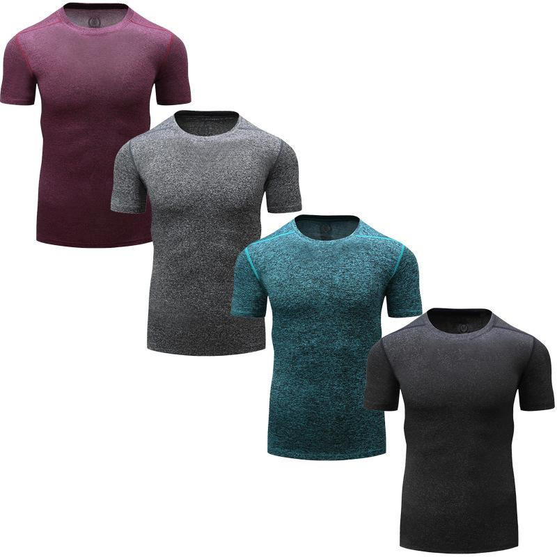 Fast Drying-Fitness Tights Men's Running Training Fast Drying Absorbent T-Shirts