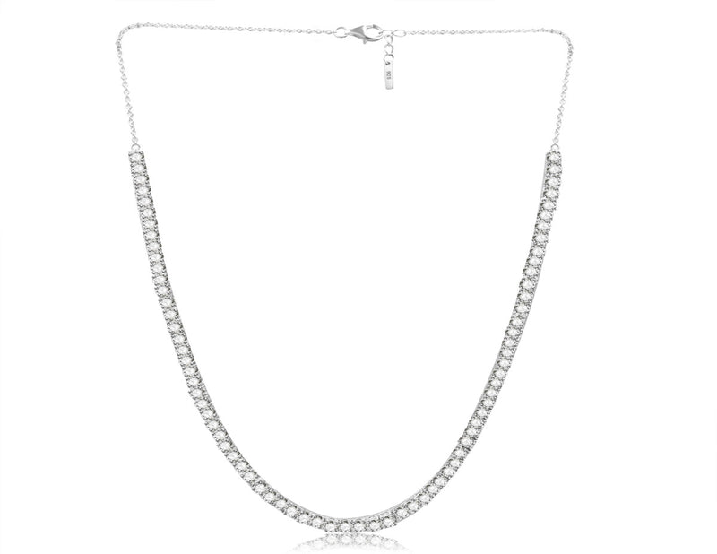 Nicki Roxx Sterling Silver Choker Necklace