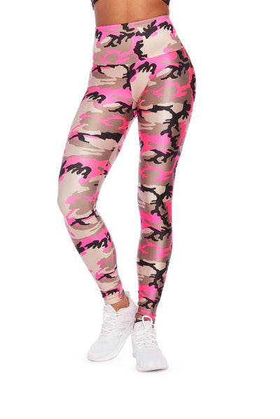 Goldsheep Neon Pink Camo Leggings